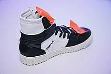 Мужские кроссовки Off-white Low 3.0 Hi-Top BW, фото 3