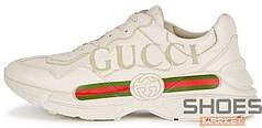 Мужские кроссовки Gucci Rhyton Logo Cream
