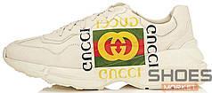 Мужские кроссовки Gucci Rhyton Sign Cream