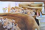 Євро комплект постільної білизни з красивим малюнком. Розмір : ― Підодіяльник ( 200 см х 220 см ) ― Простирадло (, фото 3