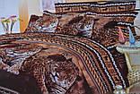 Євро комплект постільної білизни з красивим малюнком. Розмір : ― Підодіяльник ( 200 см х 220 см ) ― Простирадло (, фото 4