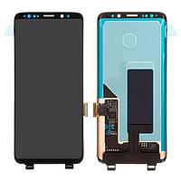 Дисплейный модуль (экран и сенсор) для Samsung Galaxy S9 G960, черный, оригинал