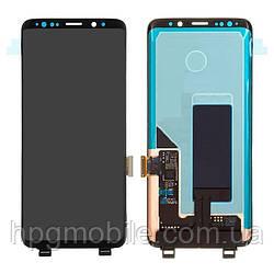 Дисплейный модуль (дисплей + сенсор) для Samsung Galaxy S9 G960F, черный, оригинал