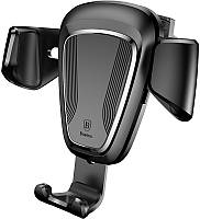 Автодержатель Baseus Gravity Car Mount (Metal type) Black, фото 1