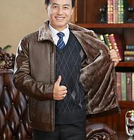 Чоловіча зимова шкіряна куртка. Модель 1872, фото 4