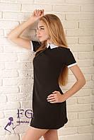 Платье с воротником «Мелани»| Распродажа модели 48, черный