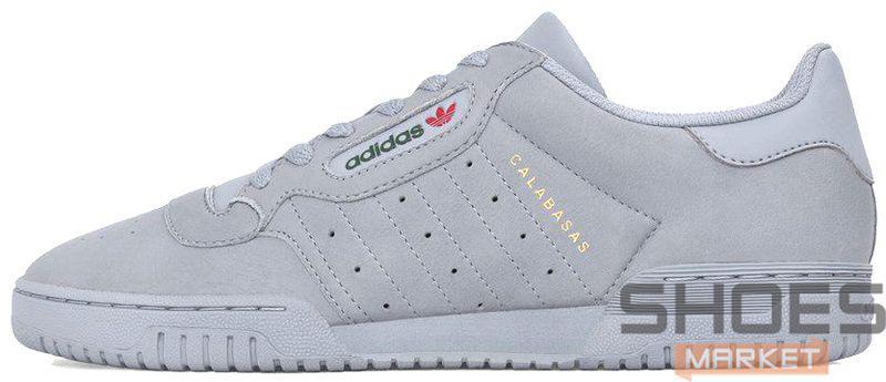 Мужские кроссовки Adidas Yeezy Powerphase Calabasas Grey CG6422, Адидас Изи Поверфаз Калабасас