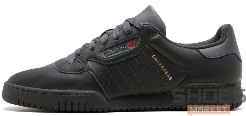 Женские кроссовки Adidas Yeezy Powerphase Calabasas Black CG6420, Адидас Изи Поверфаз Калабасас