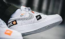 Женские кроссовки Nike Air Force 1 07 Just Do It Pack White AR7719-100, Найк Аир Форс, фото 2
