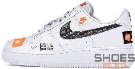 96bde767 Мужские кроссовки Nike Air Force 1 Low Just do it White купить в ...