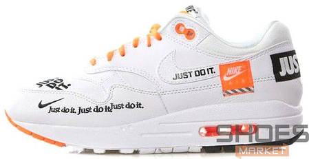 "Мужские кроссовки Nike Air Max 1 ""Just Do It"" White, фото 2"