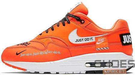 Мужские кроссовки Nike Air Max 1 SE Orange Just Do It AO1021 800, Найк Аир Макс 1, фото 2