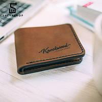 Кожаное портмоне Knockwood Edmund, коричневое