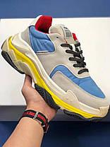Мужские кроссовки Balenciaga Triple S Grey/Blue/Yellow P00329403, Баленсиага Трипл С, фото 2
