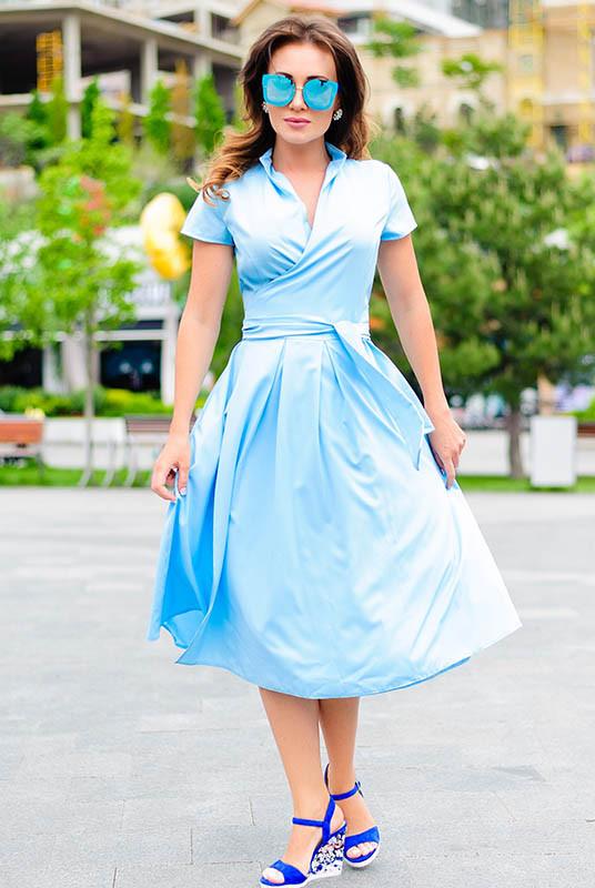 Жіноче плаття *Брітні* колір блакитний