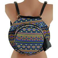 Сумка-рюкзак текстильна/женский рюкзак/ у формі капелюшка в 2-х кольорах. Синій.