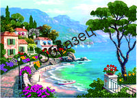 Схема для вышивки лентами «Курорт на черном море»