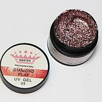 """Гель для дизайна """"Diamond Play"""" № 5 ,(5г UV Gel)"""