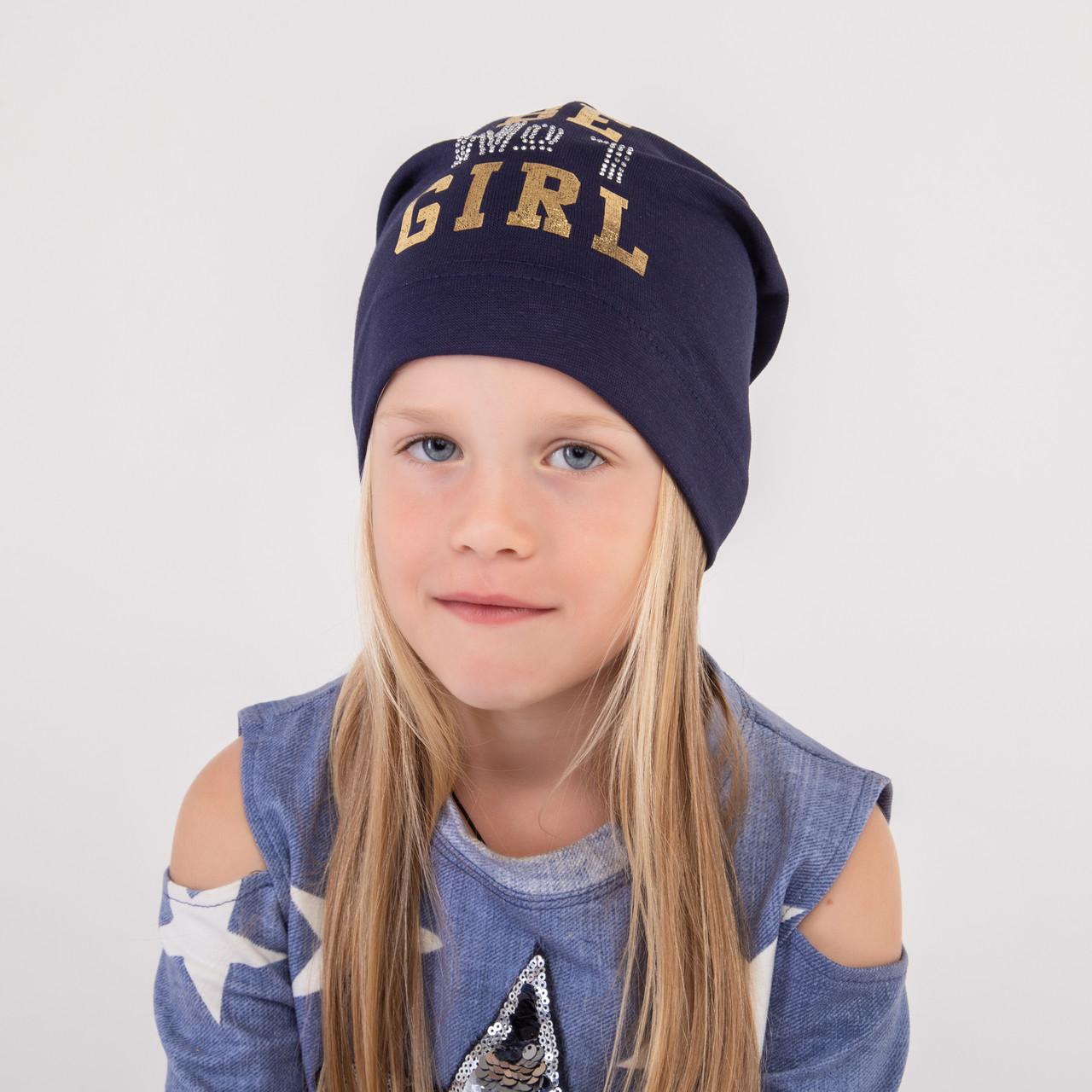 Хлопковая шапка на весну для девочки - Be #1 - Артикул 2274