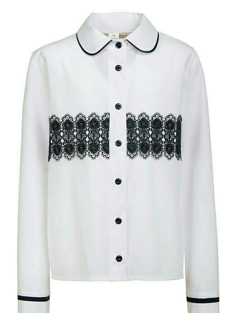 Красивая школьная подростковая блуза из креп-шелка р.134-152
