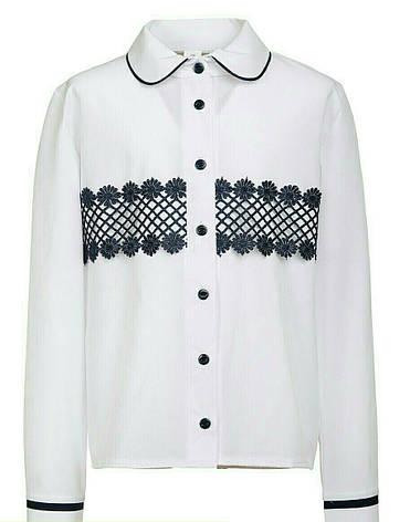 Красивая школьная подростковая блуза из креп-шелка р.134-152, фото 2