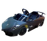 Электромобиль р/у, LAMBORGINI, 6/4V/A, 2,5 км/ч, до 30 кг, от 2-х лет, черный, 121*60*46см