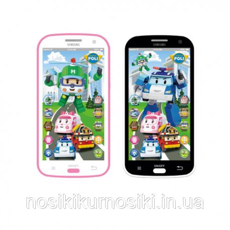 Детский интерактивный телефон Робокар Поли 12 функций