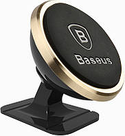 Автодержатель Baseus 360-degree Rotation Magnetic Mount Holder (Paste type) Luxury Gold, фото 1