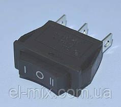 Выключатель KCD3-103 (RS-103) черный 1-группа ON-OFF-ON, Daier
