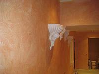 Нанесение декоративной штукатурки марсельский воск-рельефные штукатурки, фото 1