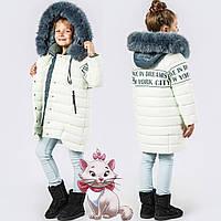 Детская зимняя куртка  на тинсулейте  GT 8261  Лайм, фото 1