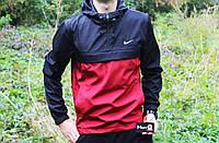 Мужская ветровка  анорак  Nike Найк красно-синяя  (реплика)