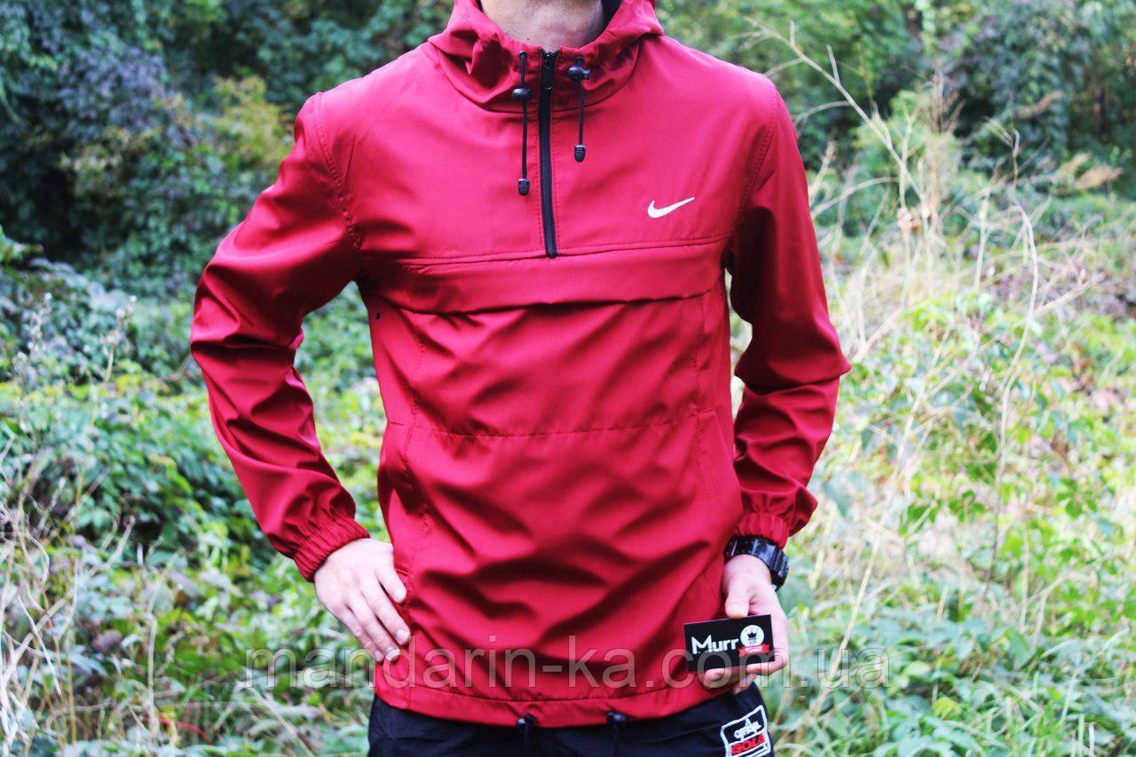Куртка анорак мужская красная реплика