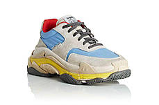 Мужские кроссовки Balenciaga Triple S Grey/Blue/Yellow P00329403, Баленсиага Трипл С, фото 3