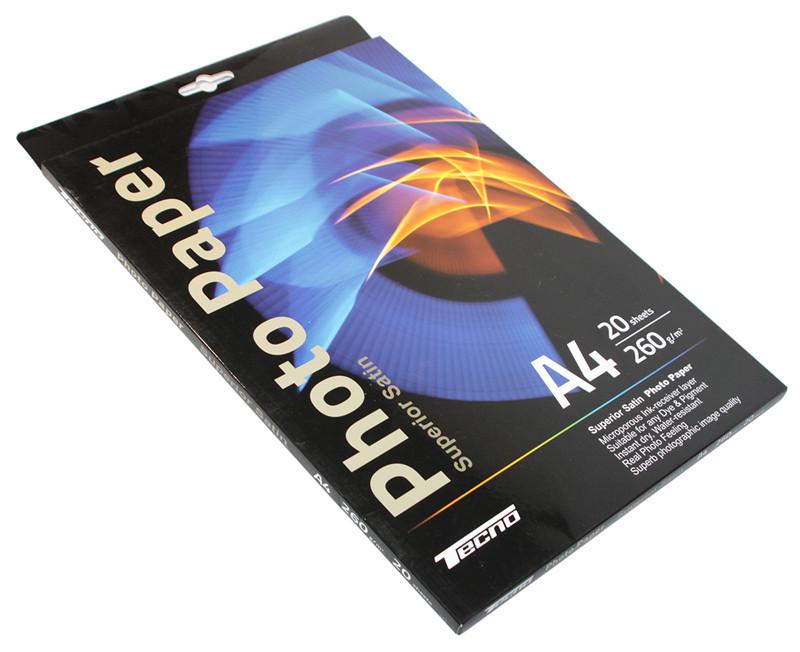 Фотобумага Tecno, ткань (Microporous Satin), A4, 260 г/м2, 20 л, Premi