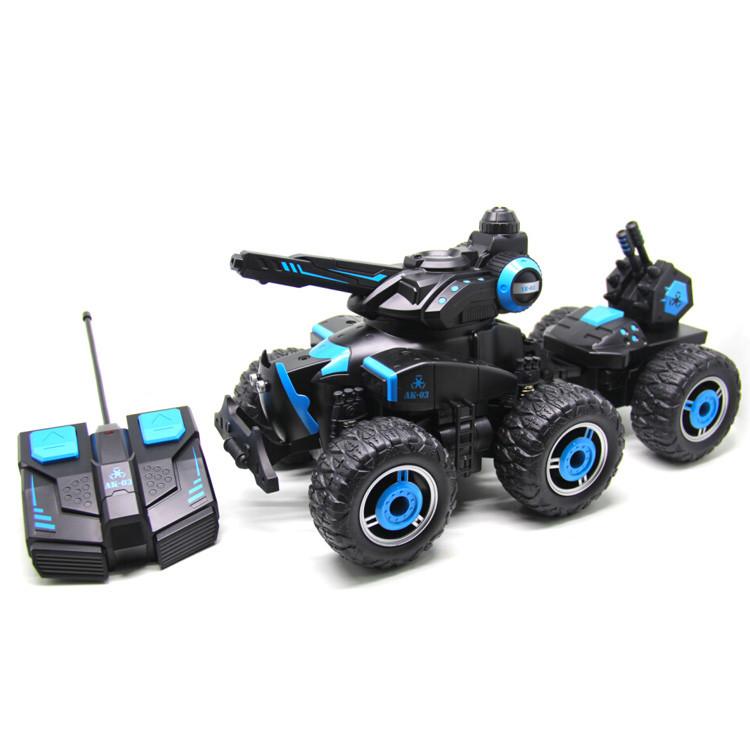 Радиоуправляемая игрушка YED Military Car 6 Wheels военная машина на р/у распыление воды Черно-Синий (SUN1374)