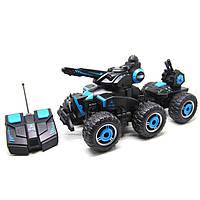 Радиоуправляемая игрушка YED Military Car 6 Wheels военная машина на р/у распыление воды Черно-Синий (SUN1374), фото 1