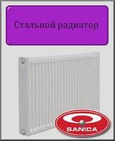 Стальной радиатор Sanica 22 тип 500х1500 (боковое подключение)