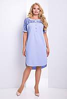 Модное платье прямого силуэта Donna 50–56р.в расцветках сирень, фото 1