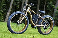 Уникальный крутой велосипед электрический с толстыми колесами мощность 250W LKS FATBIKE Electro Rear Drive