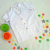 Подростковая школьная рубашка на кнопках на мальчика, размер 6-9 лет, белый