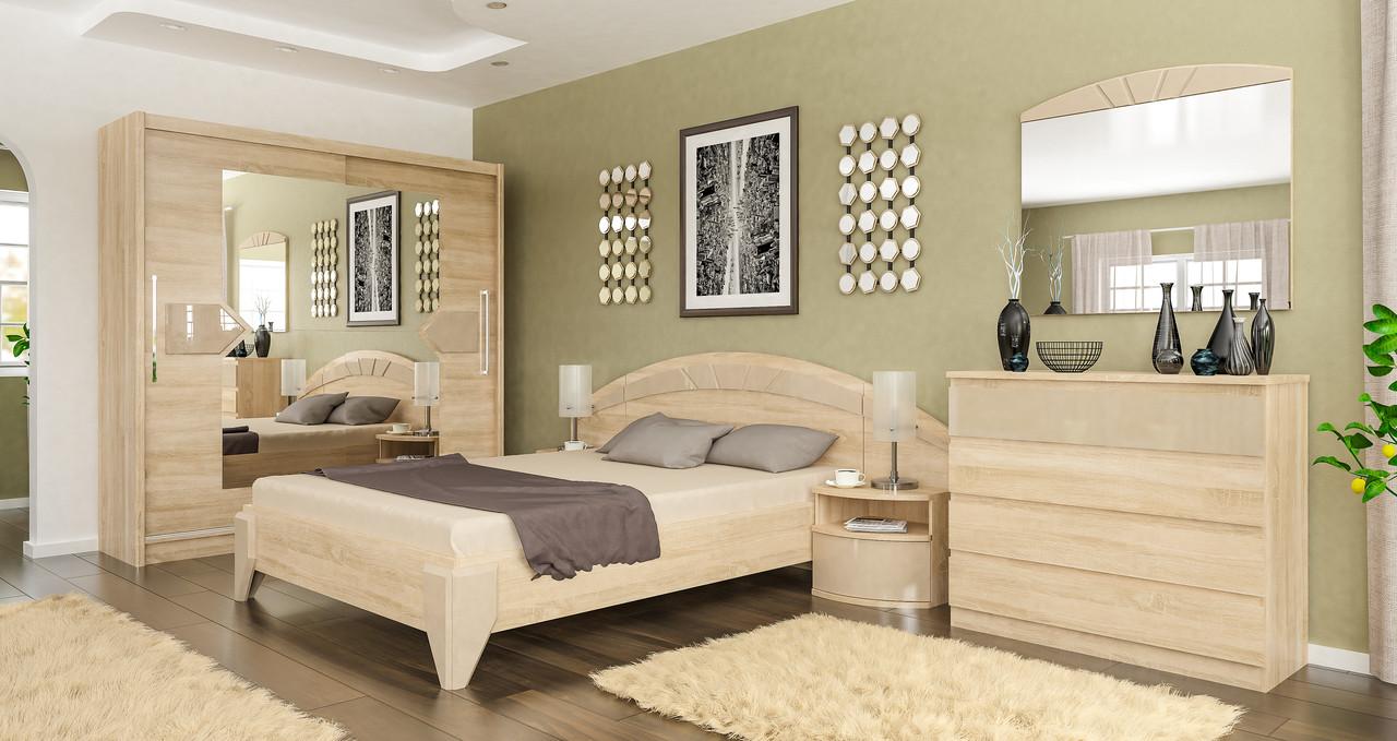Спальня Аляска (дуб сонома \ капучіно)