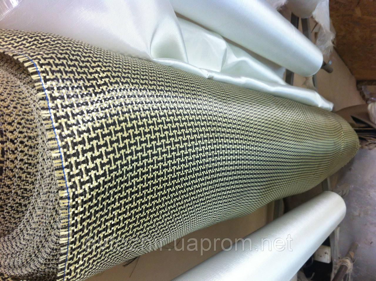 Ткань кевлар-карбон 165g/m2 płótno szer 120