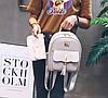 Стильный набор для модных девушек 3в1, рюкзак, клатч и визитница, фото 3