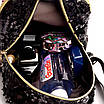 Рюкзак детский с пайетками и бантом Giaopixiong Черный, фото 8