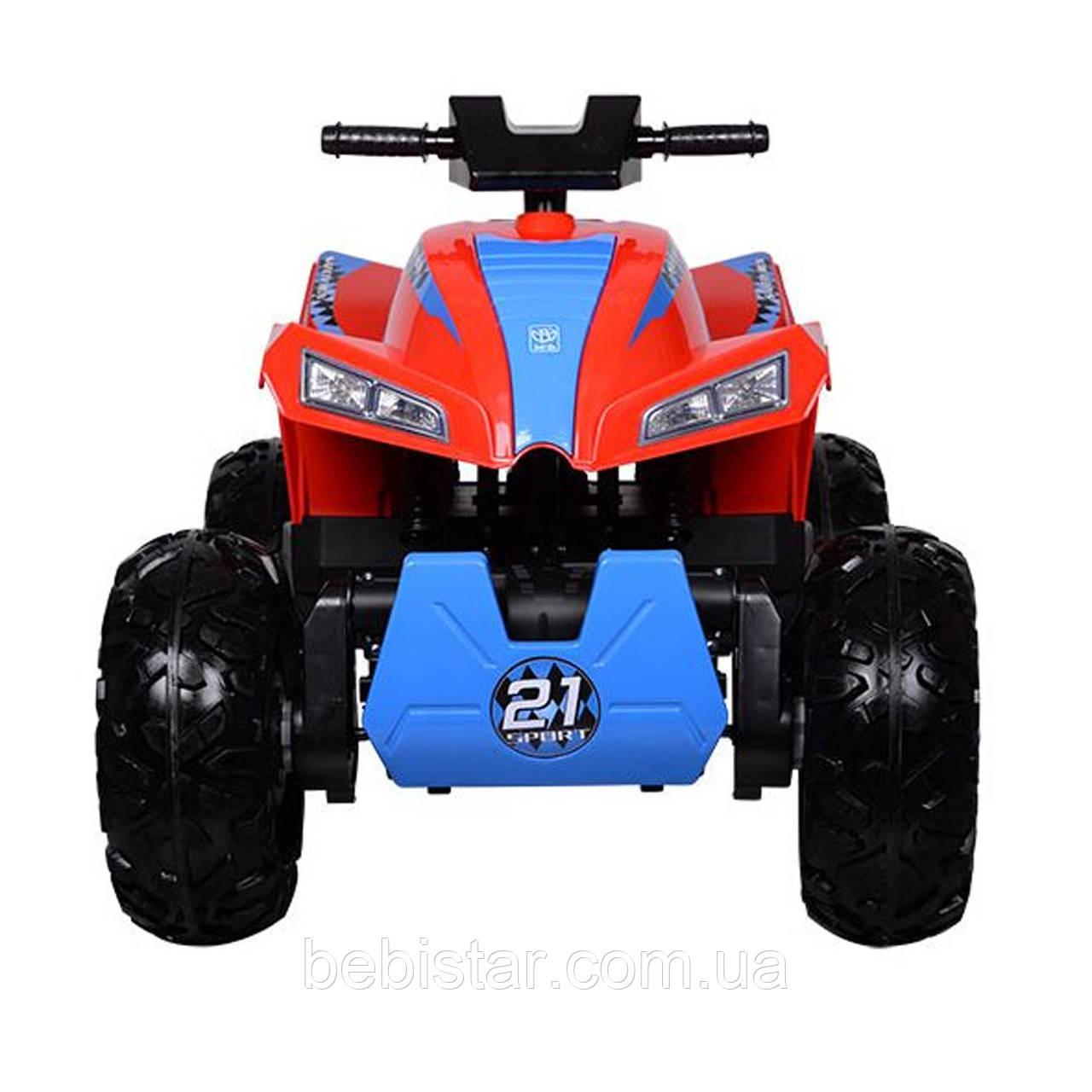 Детский полноприводный  электромобиль-квадроцикл красный М3607EL Red деткам 2-6 лет мотор 4*45W