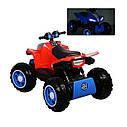 Детский полноприводный  электромобиль-квадроцикл красный М3607EL Red деткам 2-6 лет мотор 4*45W, фото 4