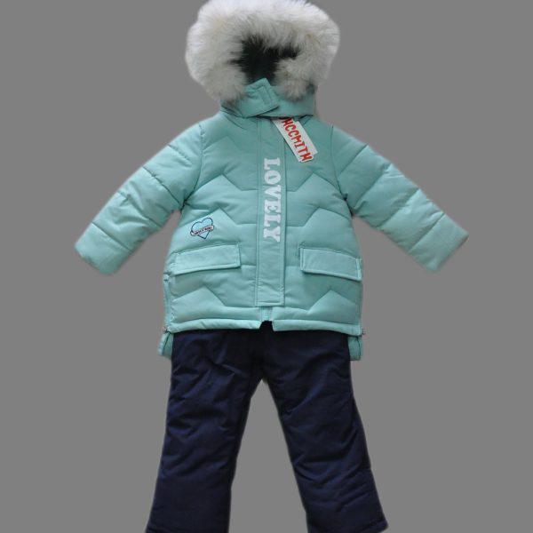 Детский зимний комбинезон для девочки тройка от Ohccmith 2209,  80-104