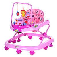 Ходунки детские Bambi JS 322 розовые