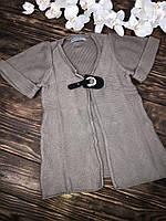 Кофта кардиган короткий рукав под свитер(гольфик)
